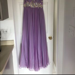 Cache Dresses - Caché Lavender Halter Top Gown
